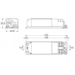 Transformador Electromagnetico 230/12V AC 50W ELT