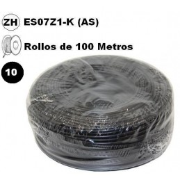 Cable flexible 1x10mm2 negro libre halogenos 750v 100 Metros