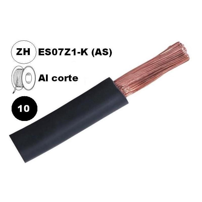 Cable flexible 1x10mm2 negro libre halogenos 750v Al Corte
