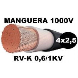 Manguera 1000v 4x2.5mm2 flexible pvc RV-K 0,6/1KV Al Corte