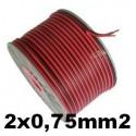 Cable paralelo audio bicolor 2x0.75mm2 rojo/negro 100 Metros