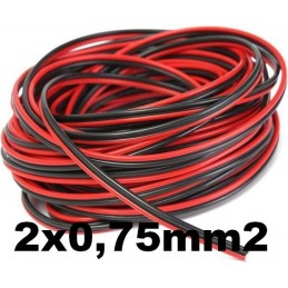 Cable paralelo audio bicolor 2x0.75mm2 rojo/negro Al Corte