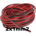 Cable paralelo bicolor 2x1mm2 rojo/negro Al Corte