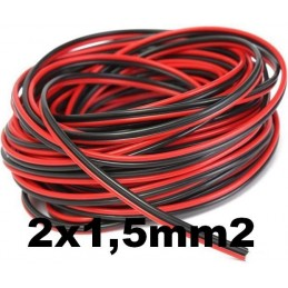 Cable paralelo audio bicolor 2x1.5mm2 rojo/negro Al Corte