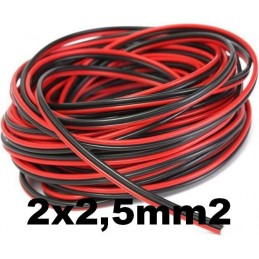 Cable paralelo audio bicolor 2x2.5mm2 rojo/negro Al Corte