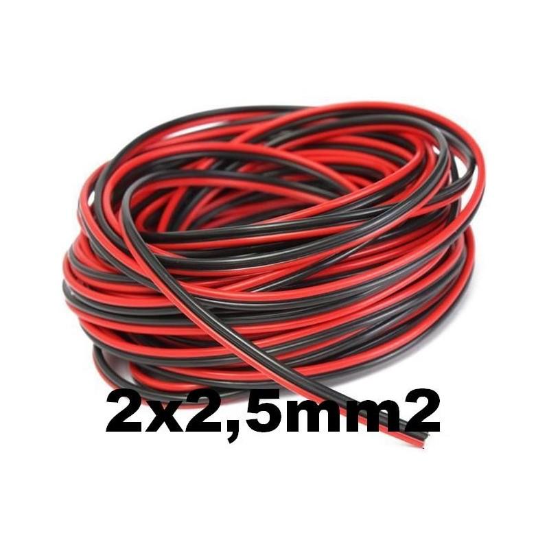 Cable paralelo bicolor 2x2.5mm2 rojo/negro Al Corte