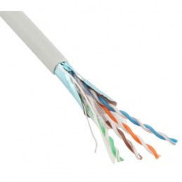 Cable red RJ45 Jetlan 6+ categoria 6 con malla FTP 4 pares rigido 23AWG General Cable