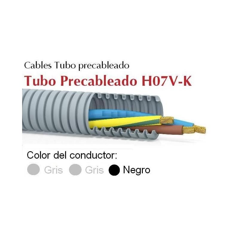 Tubo precableado 20mm + Cable flexible 750v 3x1.5mm2 g+g+n H07V-K Rollo 50 Mts