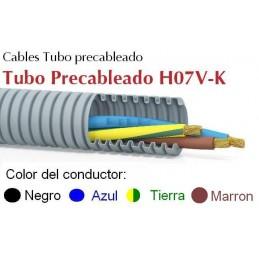 Tubo Precableado 20MM + 4 Hilos 1.5mm2 H07V-K Rollo 50 Mts