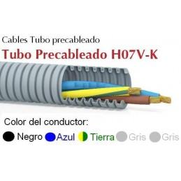 Tubo Precableado 20MM + 5 Hilos 1.5mm2 H07V-K Rollo 50 Mts