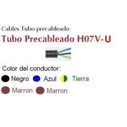 Tubo precableado 20mm + Cable rigido 750v 5x1.5mm2 a+n+t+m+m H07V-U Rollo 50 Mts
