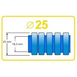 Tubo precableado 25mm + Cable flexible 750v 3x4mm2 a+n+t H07V-K Rollo 50 Mts