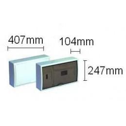 Caja automaticos superficie ICP+12 elementos puerta opaca Solera 8698