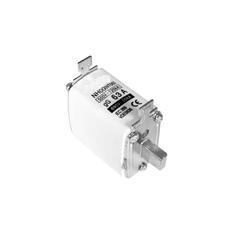 Fusible cuchilla NH00 63Amp 500/690VAC gG/gL