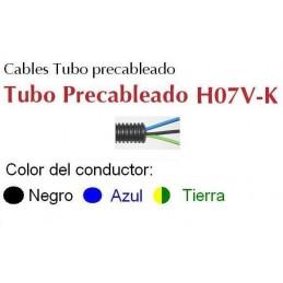 Tubo Precableado 20MM + 3 Hilos 4mm2 H07V-K Rollo 50 Mts