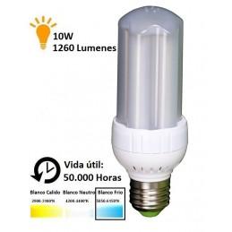 Bombilla led panocha 10w 230v e27 1260lum luz blanco frio 5850-6150k Agfri 4094