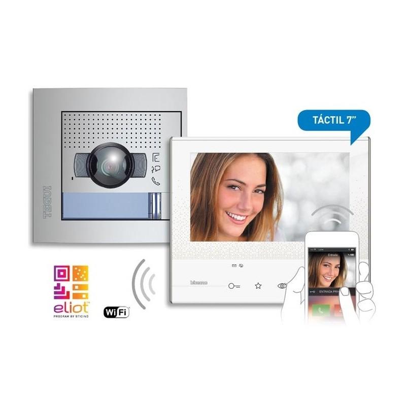 Kit videoportero color 1 linea 2 hilos Classe 300X13E manos libres WI-FI + SFERA NEW Tegui 376171
