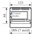 Central audio para placas de superficie Serie 7 Tegui 375000