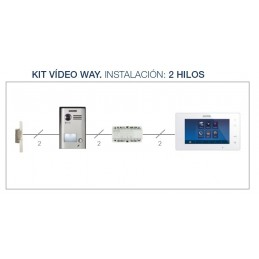 "Videoportero Kit Way 7"" 2 Hilos Color 2 Lineas Fermax 1402"