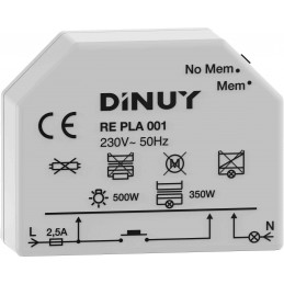Regulador de luz 500w Dinuy RE PLA 001