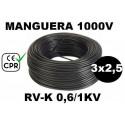 Manguera 1000v 3x2.5mm2 flexible pvc RV-K 0.6/1KV CPR 100 Metros