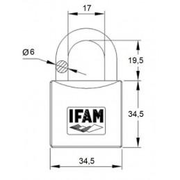 Candado Iberdrola niquelado arco corto Serie Z35 IFAM