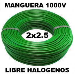 Manguera 1000v 2x2.5mm2 flexible libre halogenos RZ1-K AS 0.6/1KV 100 Metros