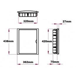 Caja automaticos empotrar 28 elementos puerta opaca Solera 5250
