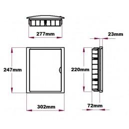 Caja automaticos empotrar 12 elementos puerta opaca Solera 8688