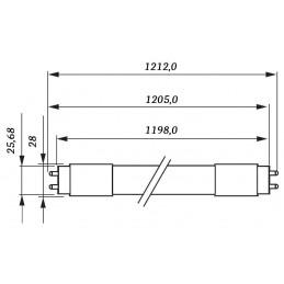 10 Tubos Led 1200mm 4000K Blanco Neutro T8 G13 Philips CorePro LEDtube 14.5W/840