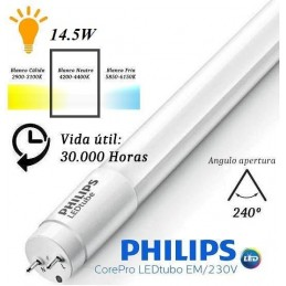 10 Tubos Led 1200mm 4000K Blanco Neutro T8 G13 Philips CorePro LEDtube 14.5W/840