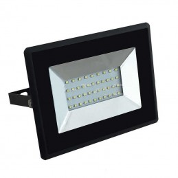 Proyector LED Slim 50W Negro Luz Blanco Frio 6000K 4250Lm