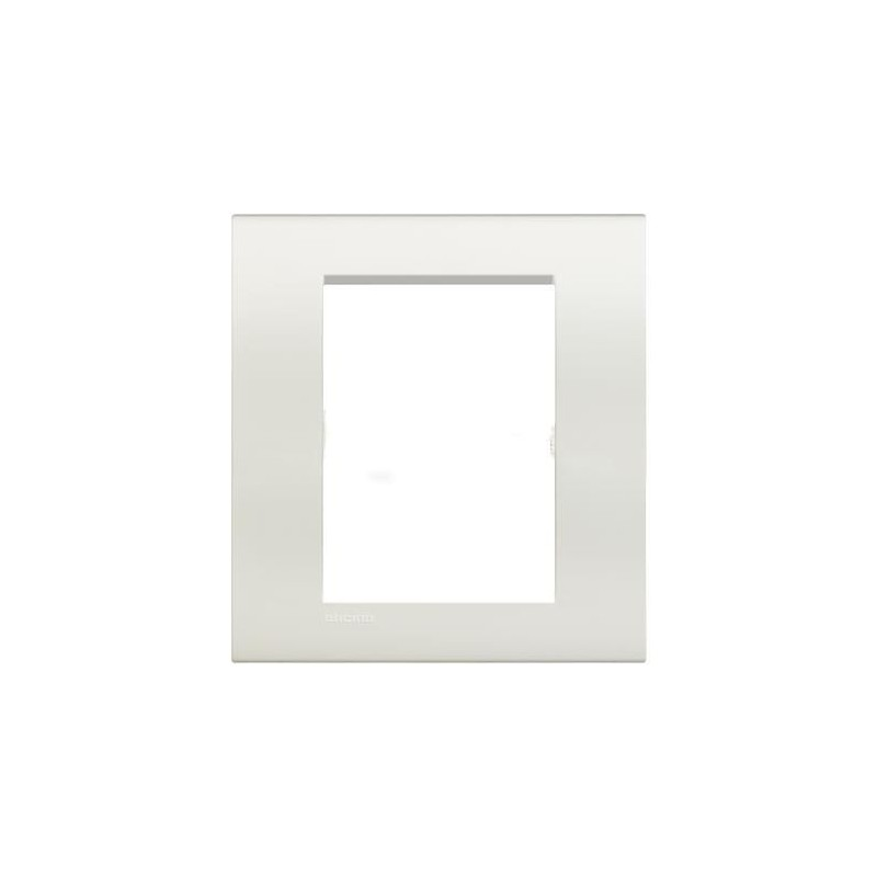 Placa 3+3 modulos blanca Bticino LNA4826BI