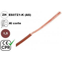 Cable flexible 1x1.5mm2 marron libre halogenos 750v CE CPR Al Corte