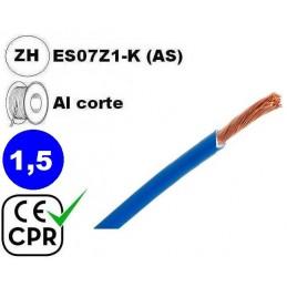 Cable flexible 1x1.5mm2 azul libre halogenos 750v CE CPR Al Corte
