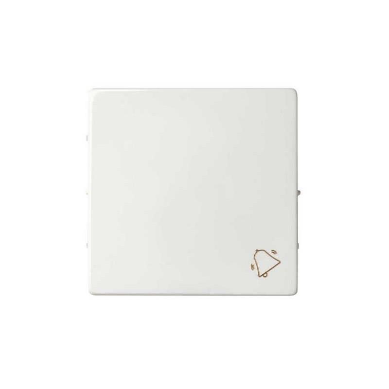 Tecla pulsador timbre ancha blanca Serie 82 Simon 82017-30