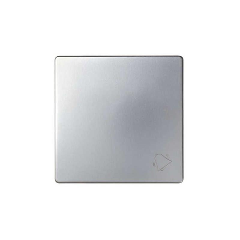 Tecla pulsador timbre ancha aluminio Serie 82 Simon 82017-33