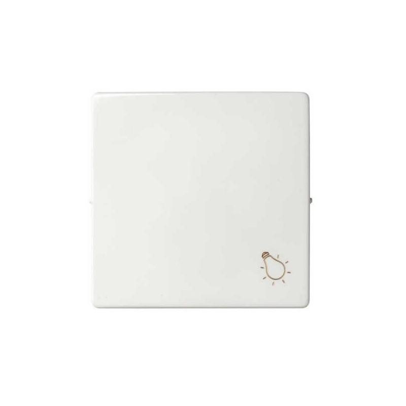 Tecla pulsador luz ancha blanca Serie 82 Simon 82018-30