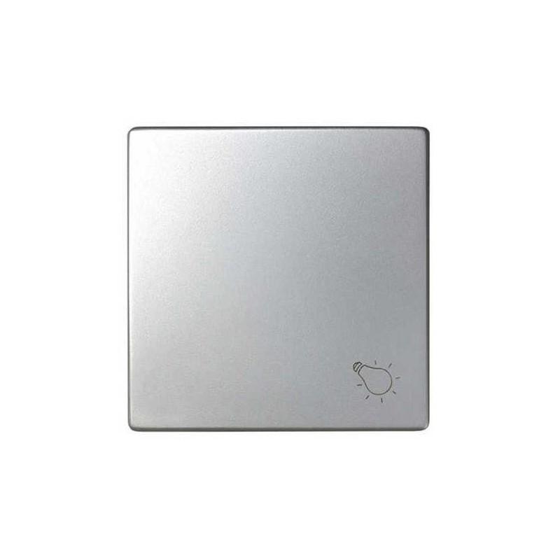 Tecla pulsador luz ancha aluminio Serie 82 Simon 82018-33