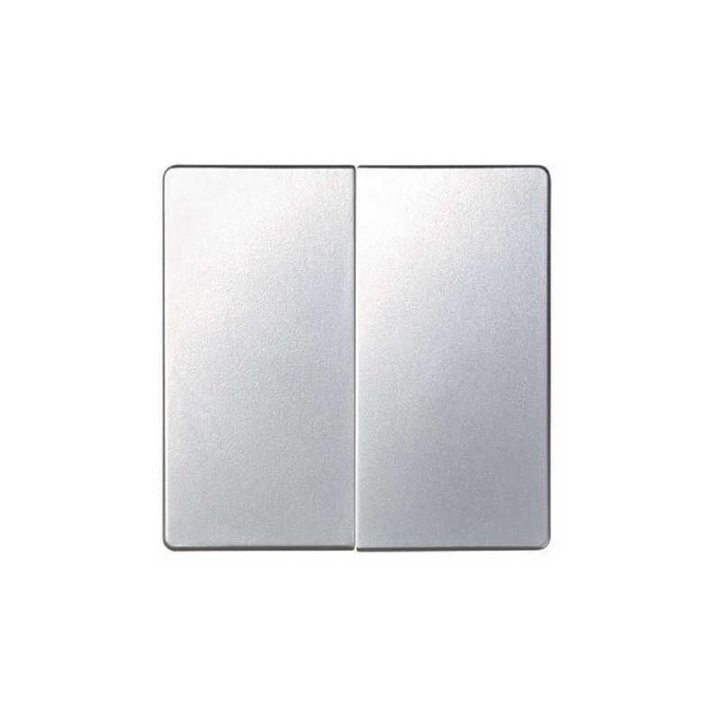 Tecla grupo 2 interruptores conmutadores pulsadores aluminio Serie 82 Simon 82026-33