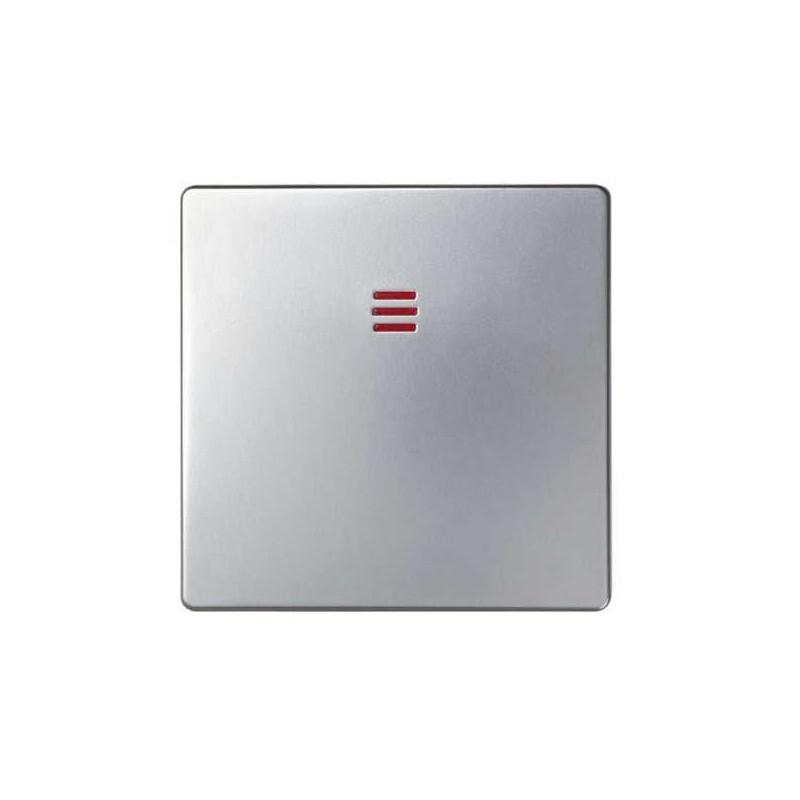 Tecla interruptor conmutador cruze con visor ancha aluminio Serie 82 Simon 82011-33