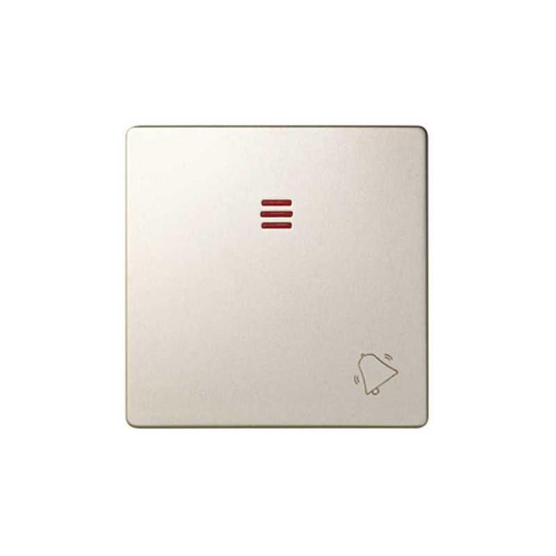 Tecla pulsador timbre simbolo campana con visor ancha cava Serie 82 Simon 82015-34