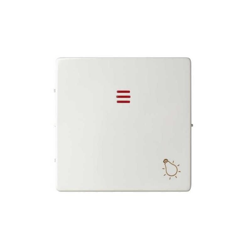 Tecla pulsador luz simbolo luz con visor ancha blanca Serie 82 Simon 82016-30