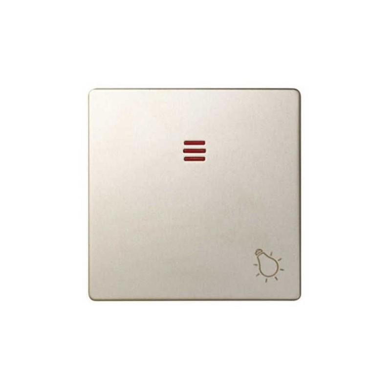 Tecla pulsador luz simbolo luz con visor ancha cava Serie 82 Simon 82016-34