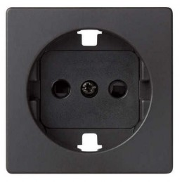 Tapa enchufe schuko TT seguridad grafito Serie 82 Simon 82041-38