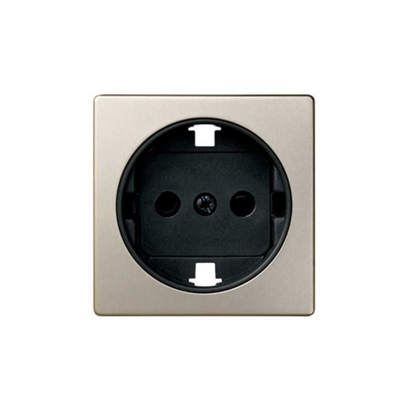 Tapa enchufe schuko TT seguridad cava+grafito Serie 82 Simon 82041-34