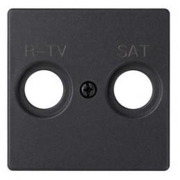 Tapa toma R-TV SAT ancha grafito Serie 82 Simon 82097-38