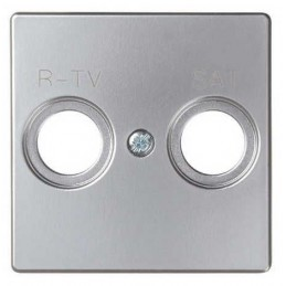 Tapa toma R-TV SAT ancha aluminio Serie 82 Simon 82097-33