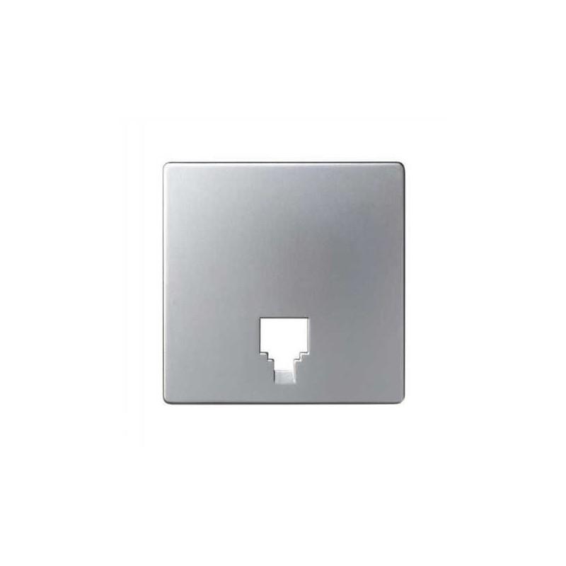 Tecla toma telefono ancha aluminio Serie 82 Simon 82062-63