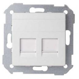 Tecla para 2 conectores AMP ancha blanca Serie 82 Simon 82006-30